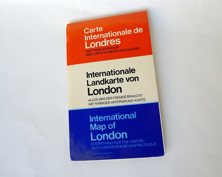 International Map of London Everything for the Visitor with Underground Map in Colour ISBN 009 201040 7, Never Used Maps New in Package - pinned by pin4etsy.com