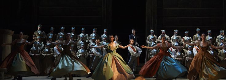 """Jeannette (right) with dancers in the Salzburg Festival production of """"Lucio Silla"""""""