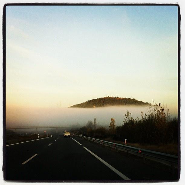 The fog in Ponferrada, Spain