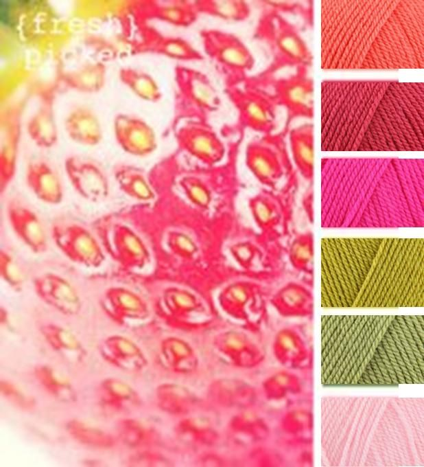 Fresh Picked Yarn Combo: Shrimp, Pomegranate, Fiesta, Lime, Meadow, Candyfloss