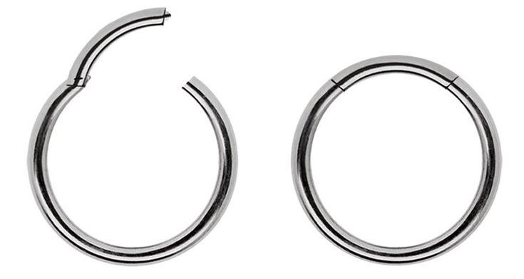 Bild von Piercing Schmuck Ring Smooth Segment Clicker Titan in 1,6 mm