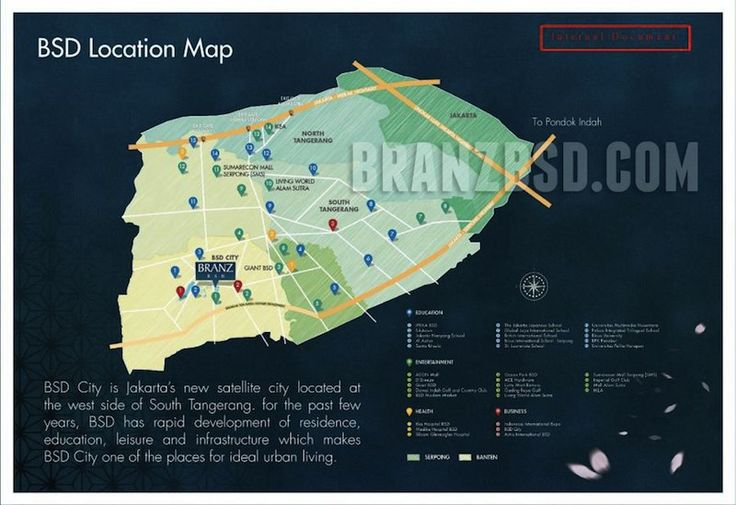 Branz BSD Location MAP