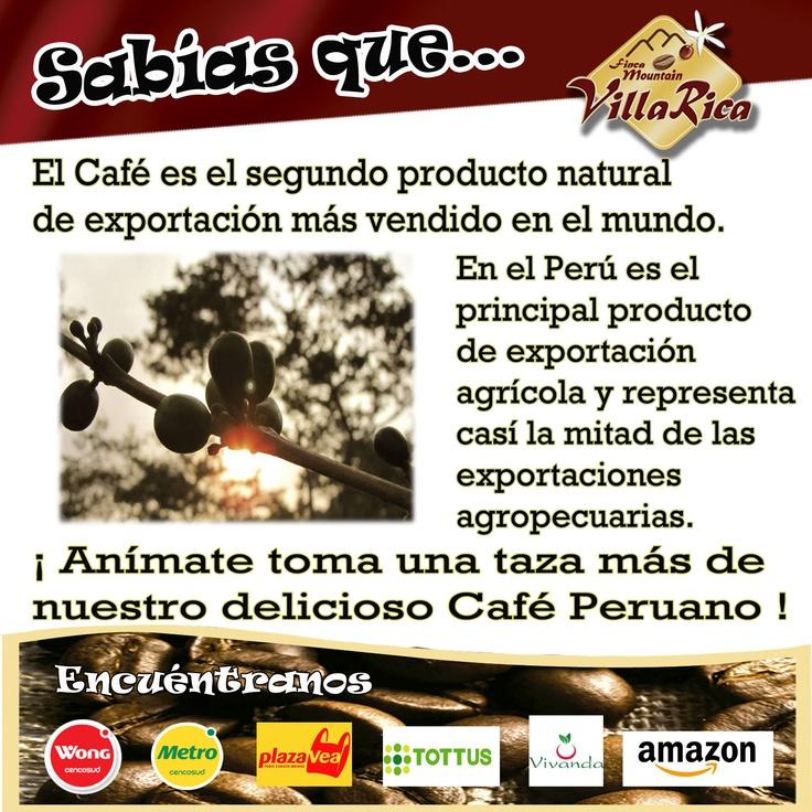 Café 2° producto natural más vendido en el mundo