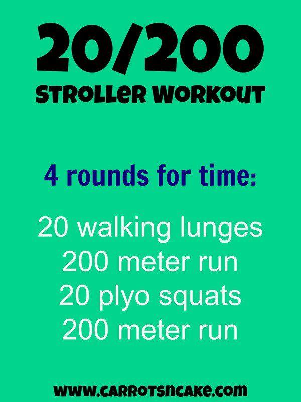 Carrots N Cake Stroller Workouts