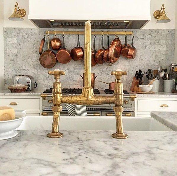 Brass Kitchen Faucet Unlacquered Brass Faucet Update Edt Gooseneck