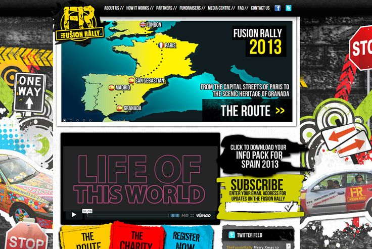 Fusion Rally - A yearly road trip around Europe raising money for charities. http://thefusionrally.com #design #development