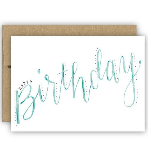 watercolor lettering birthday - Google Search