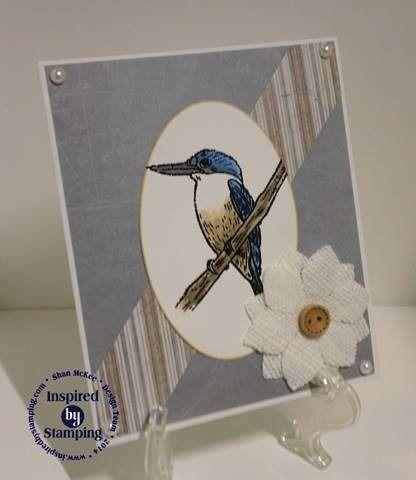 Inspired by Stamping, Shan McKee, Australian Nature stamp set, birthday card, bird card