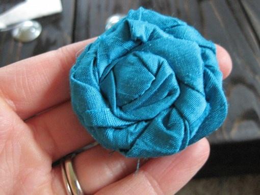Fabric Flower #craft #crafts #DIY