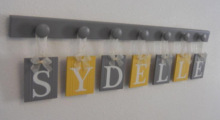 Grey And Yellow Nursery Bedding | Yellow Gray Nursery Wall Art - Grey Yellow Baby Girl Nursery Decor ...