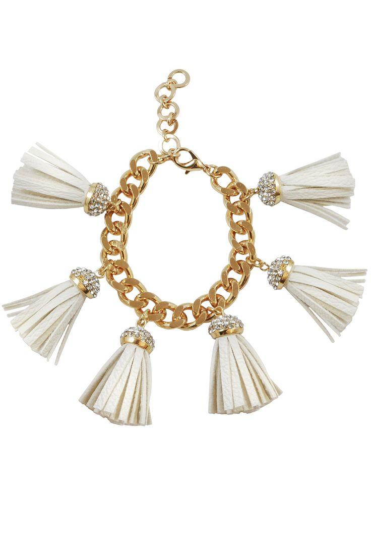 Ella Gold Fringe Bracelet