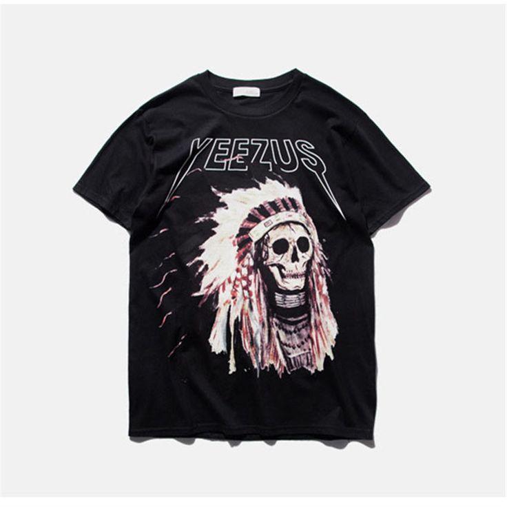 Kanye West Yeezus Indian Chief Skull T-Shirt