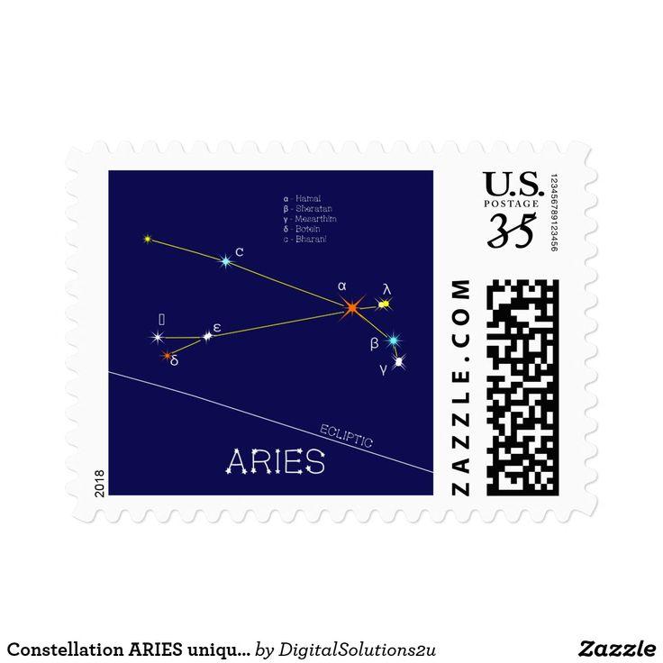 Constellation ARIES unique, sublime Postage