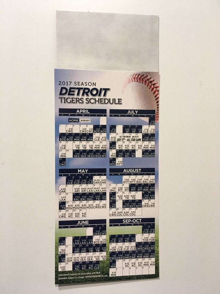 Tigers Game Schedule