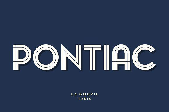 Pontiac Inline Font Pack by La Goupil Paris on @creativemarket