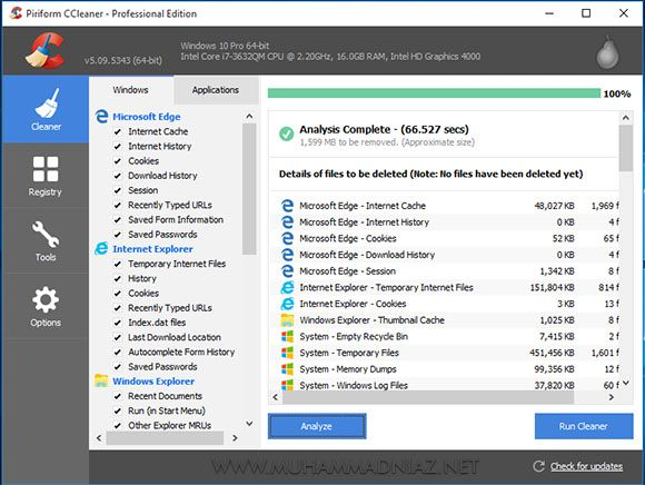 CCleaner Professional Screenshots