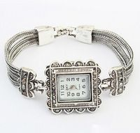 Hot reloj mujer vendimia del cuadrado del rhinestone luxury cuarzo de la pulsera mujeres del reloj de ginebra vestido relojes venta al por mayor nueva llegada 2015