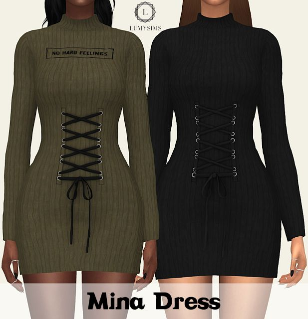Sims 4 CC's - The Best: MINA DRESS by Lumy Sims