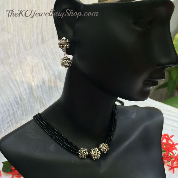 The Dhavala Necklace Inspired by traditional Indian mangalsutra design.  Rs. 2,200/- http://thekojewelleryshop.com/collections/for-your-neck/products/the-dhavala-necklace