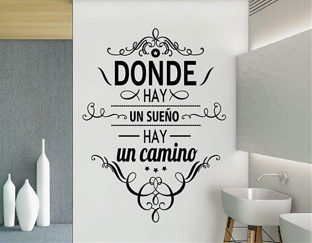 """Vinilo Adhesivo con Frases """"Donde hay un sueño hay un camino"""" 03191"""