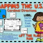 You are receiving one:    1 outlined USA map  1 labeled page of landform picture cards  1 non labeled page landform/compass picture cards  Both labeled ...