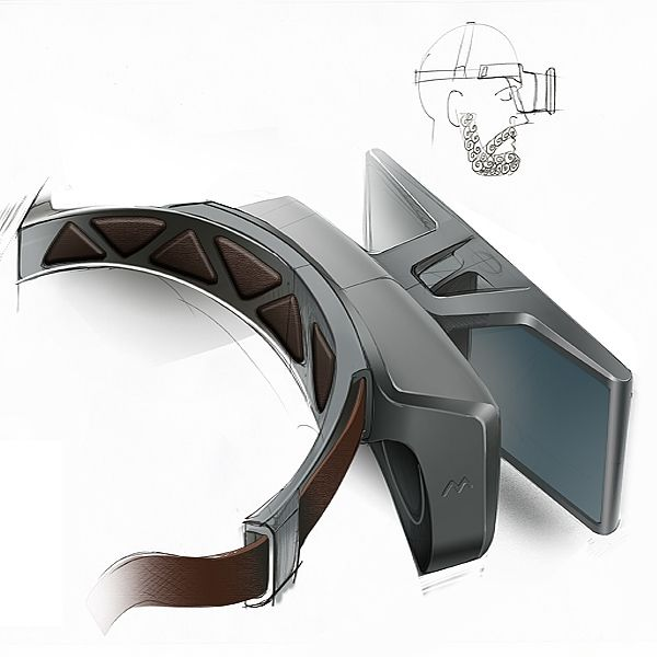 3d glasses design sketch
