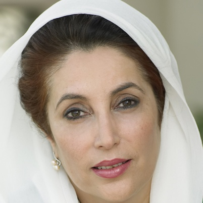 Benazir Bhutto: was the Prime Minister of Pakistan and the first female prime minister of a Muslim nation. She was named one of seven winners of the United Nations Prize in the Field of Human Rights. She was killed by a suicide bomber in 2007.