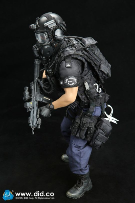Figurine 1/6 LAPD SWAT - Machinegun.fr