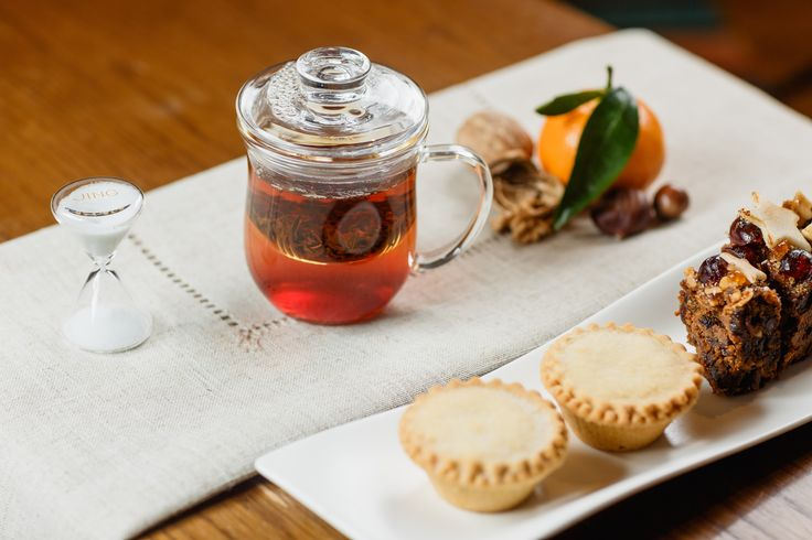 Our chai tea and infuser mug with mince pies and stollen - it's beginning to look a lot like Christmas!