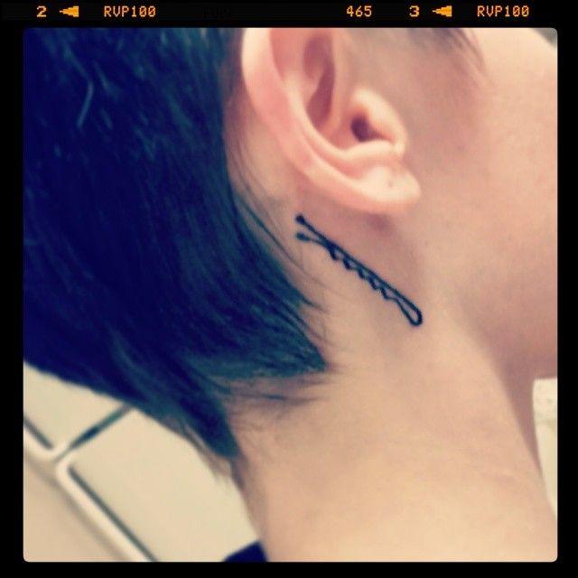 Bobby Pin tattoo