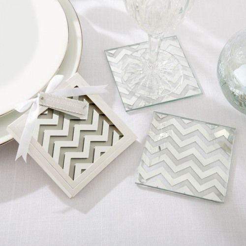Mirrored Chevron Coasters by Beau-coup