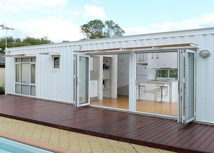 12 Ideas White Shipping Container House For White Modified Shipping Containers Temporary Cont Container House Container House Plans Building A Container Home