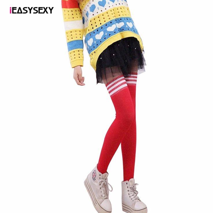 iEASYSEXY Fashion Japanese Style Striped Over Knee Socks Three Bars Autoreggenti Medias Rodilla Autumn Students Alcetines Altos #Affiliate