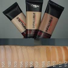 Resultado de imagen para maquillaje loreal infallible 24 horas tonos
