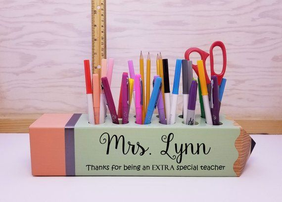 Personalized Pencil Holder With Name And Quote Teacher Gifts