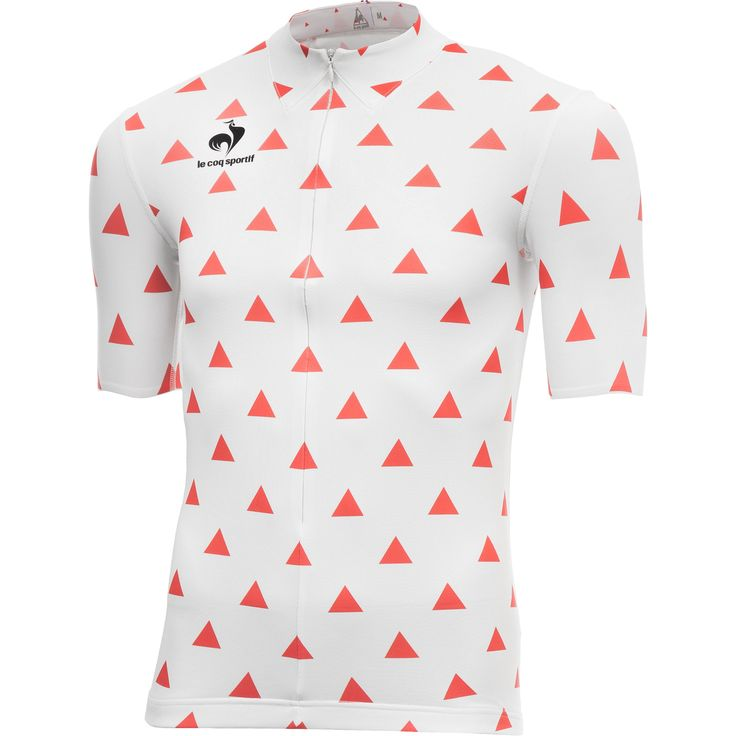 LE COQ SPORTIF 2014 Short sleeves Jersey ARAC White Red