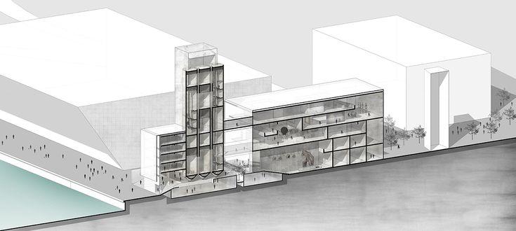 La propuesta de RSAA preserva y modifica un silo histórico en Noruega,Cortesía de RSAA