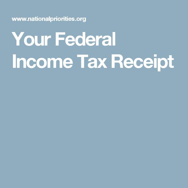 Your Federal Income Tax Receipt