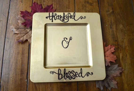 Custom Thanksgiving Charger Plate Fall Charger Table Decor