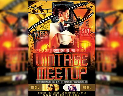 """Check out new work on my @Behance portfolio: """"Vintage Meetup"""" http://be.net/gallery/34644363/Vintage-Meetup"""