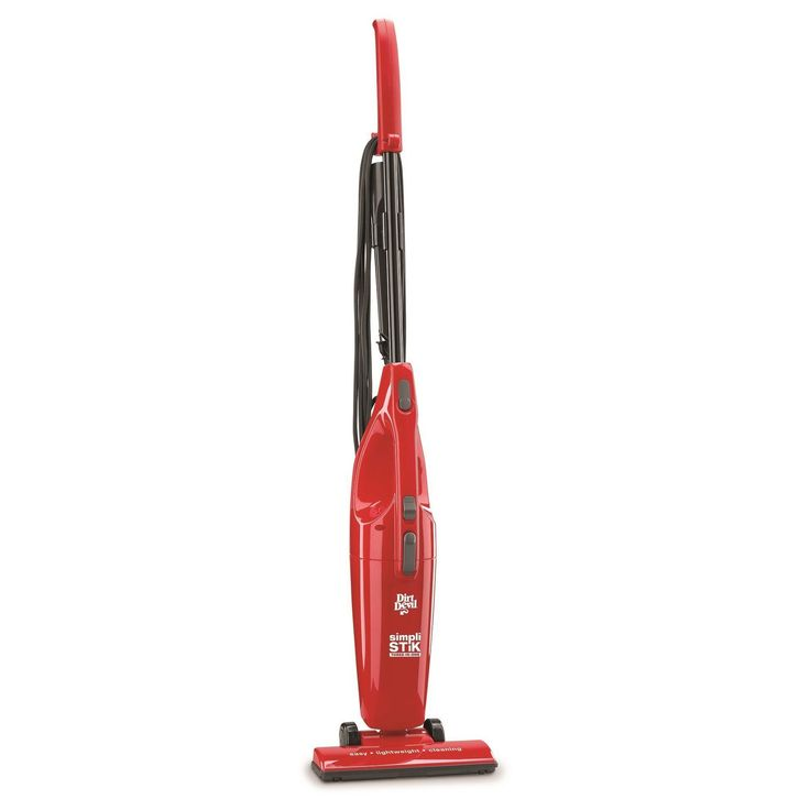 The lightweight Dirt Devil Red Versa Power Stick Vac has a flexible design, which makes it easily convert into a hand vac. It has a built-in crevice tool for reaching narrow corners and tight spots. This Dirt Devil vacuum cleaner is designed to work on carpeted and hard floors. It has a detachable hand vac that comes in handy for dusting drapes, upholstery, counters and car interiors. This Dirt Devil bagless stick vacuum has an Easy Empty dirt container that allows you to easily dump the…