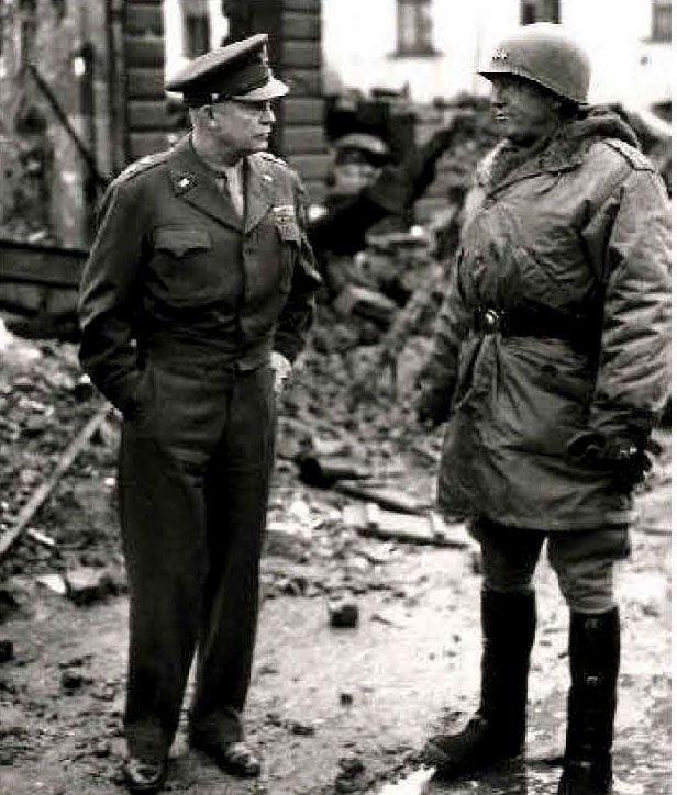 Eisenhower and Patton in Bastogne