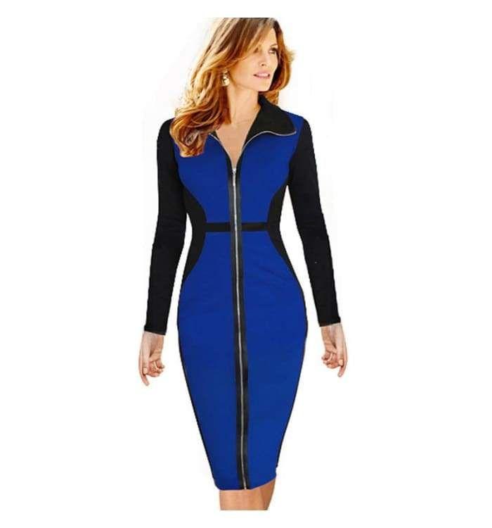 27b527ef65 Nice-forever Plus Size Vintage Dress Winter full Sleeve Illusion ...