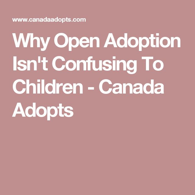Why Open Adoption Isn't Confusing To Children - Canada Adopts