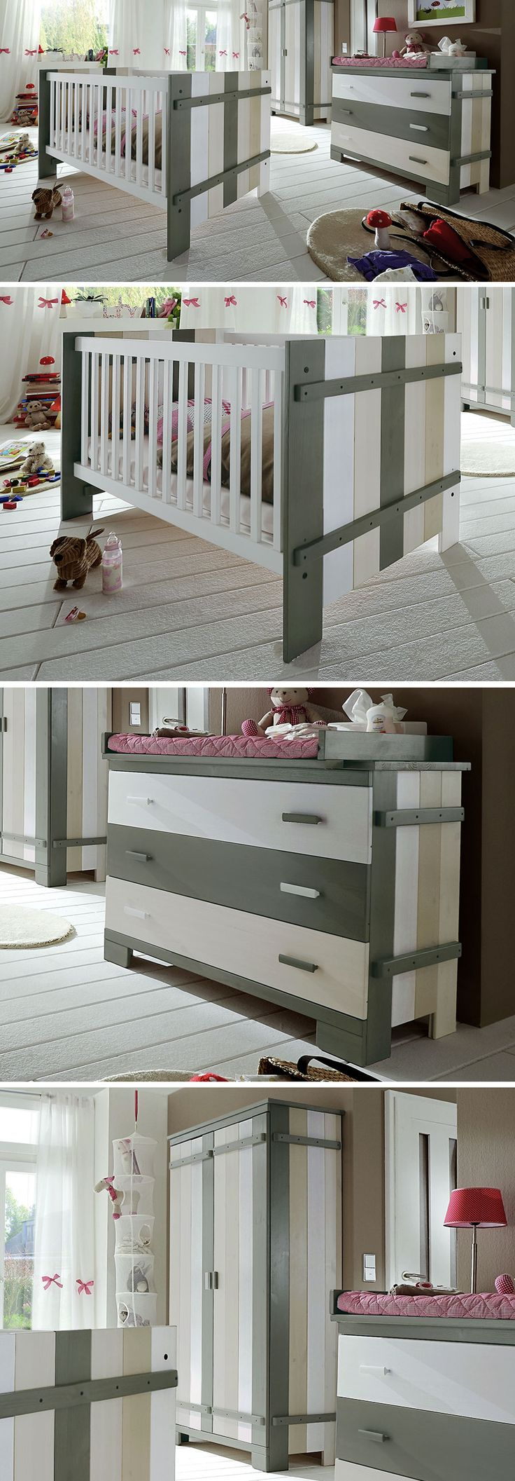 ber ideen zu babybett massivholz auf pinterest. Black Bedroom Furniture Sets. Home Design Ideas