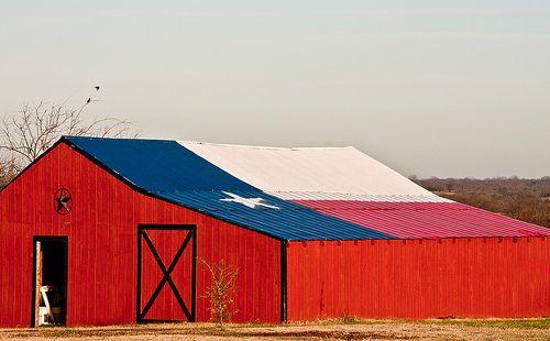 Texas Flag Barn
