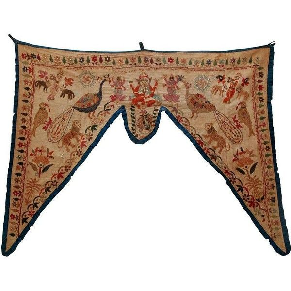 Antique Asian Embroidered Valance ($99) ❤ liked on Polyvore featuring home, home decor, window treatments and curtains