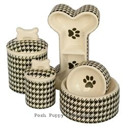 Houndstooth Bowls & Treat Jars. Love This!