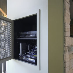 Tv Recessed Niche Hiding Electronics In The Wall House Makeover Ideas To Mull Over