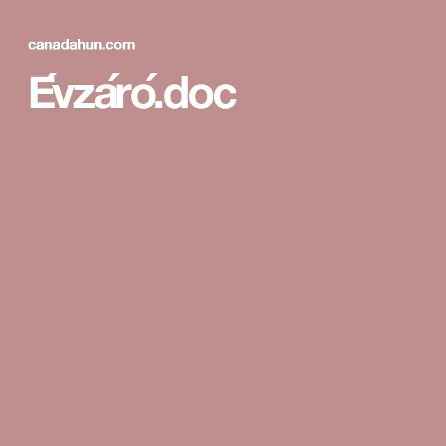 Évzáró.doc